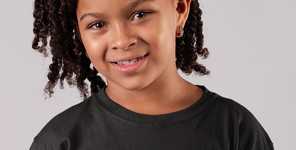 Childrens Burkin Faso Black T-Shirt