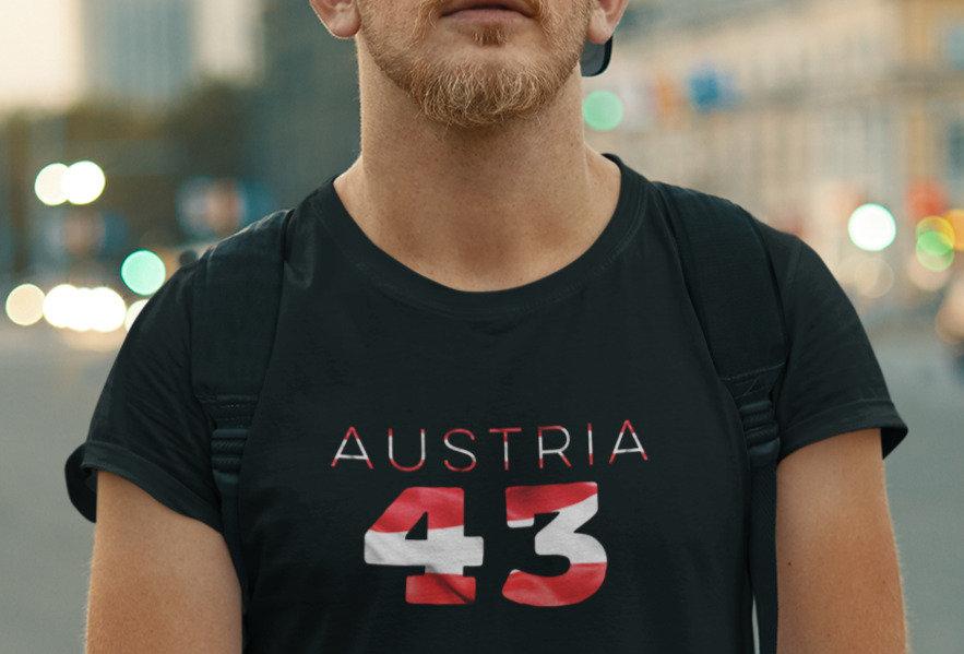 Austria Mens Black T-Shirt