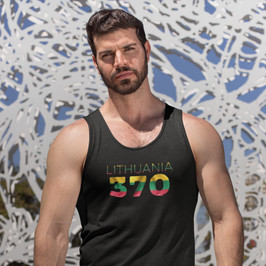 Lithuania 370 Mens Tank Top