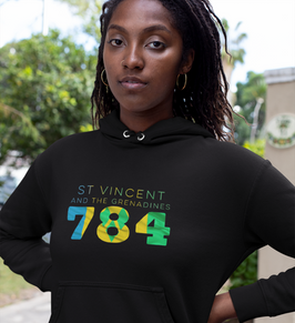 St Vincent and the Grenadines 784  Womens Pullover Hoodie