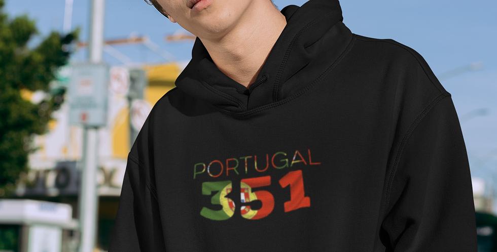 Portugal Mens Black Hoodie