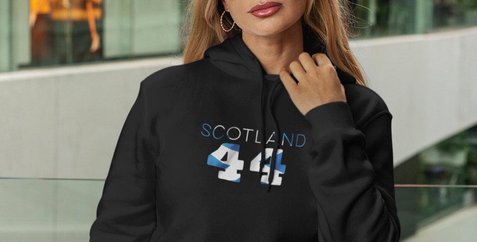 Scotland Womens Black Hoodie