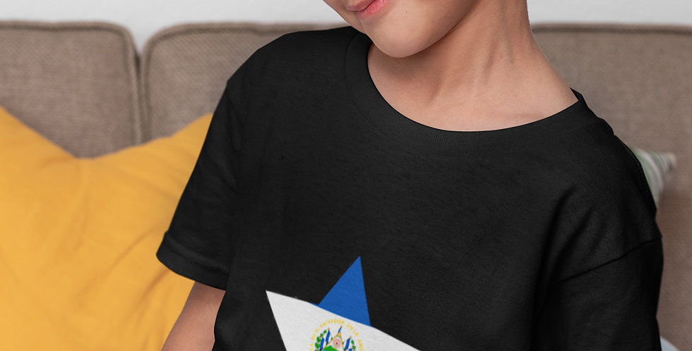 Childrens El Salvador Black T-Shirt