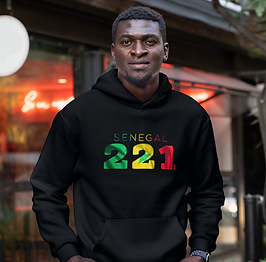 Senegal 221 Mens Pullover Hoodie