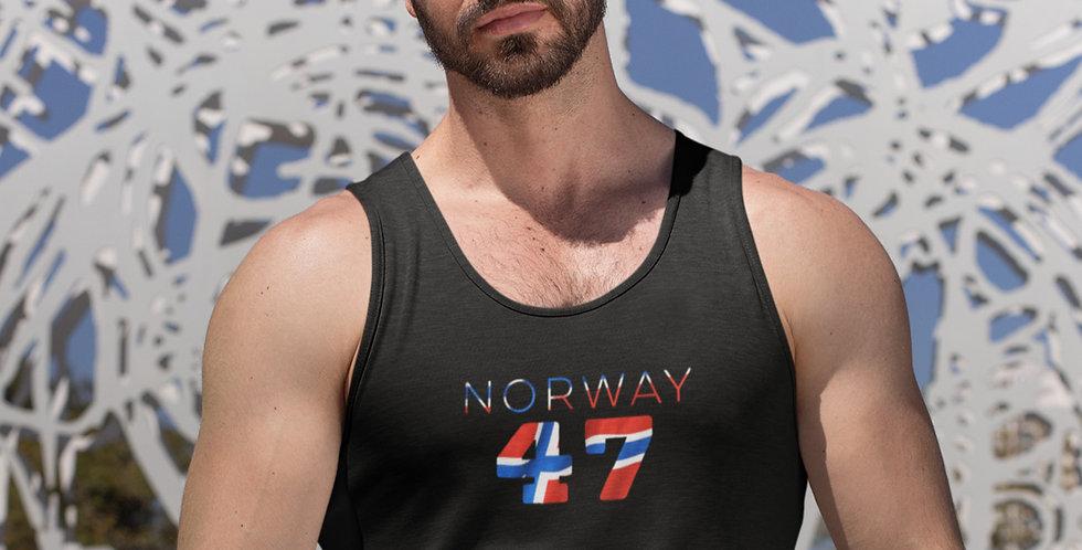 Norway Mens Black Tank Top Vest