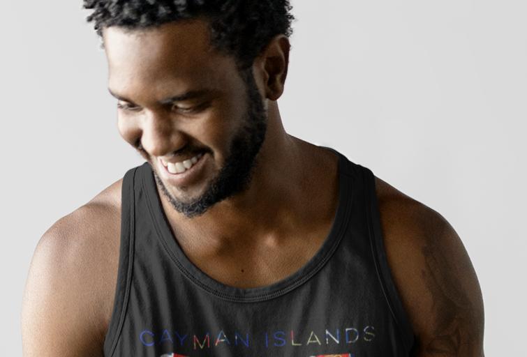 Cayman Islands Mens Tank Top Vest