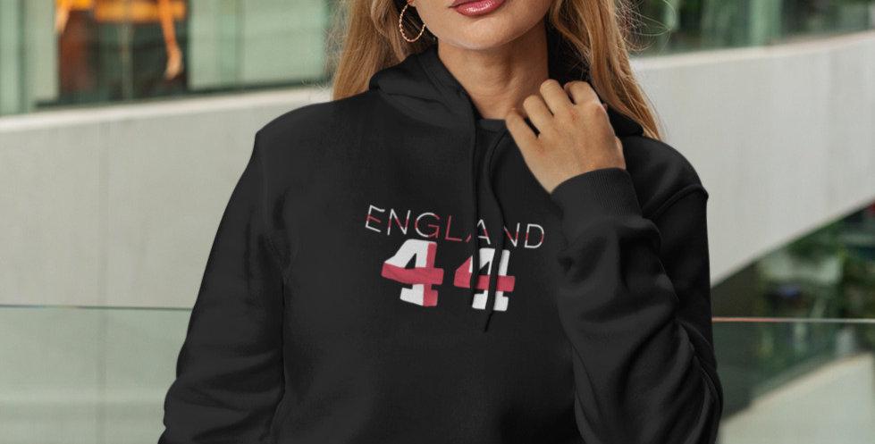England Womens Black Hoodie
