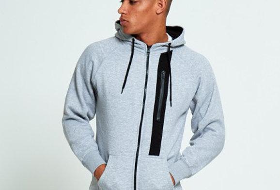 Heather Grey Side Zip Hooded Sweatshirt