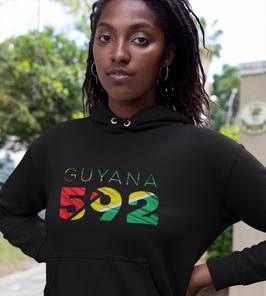 Guyana 592 Womens Pullover Hoodie