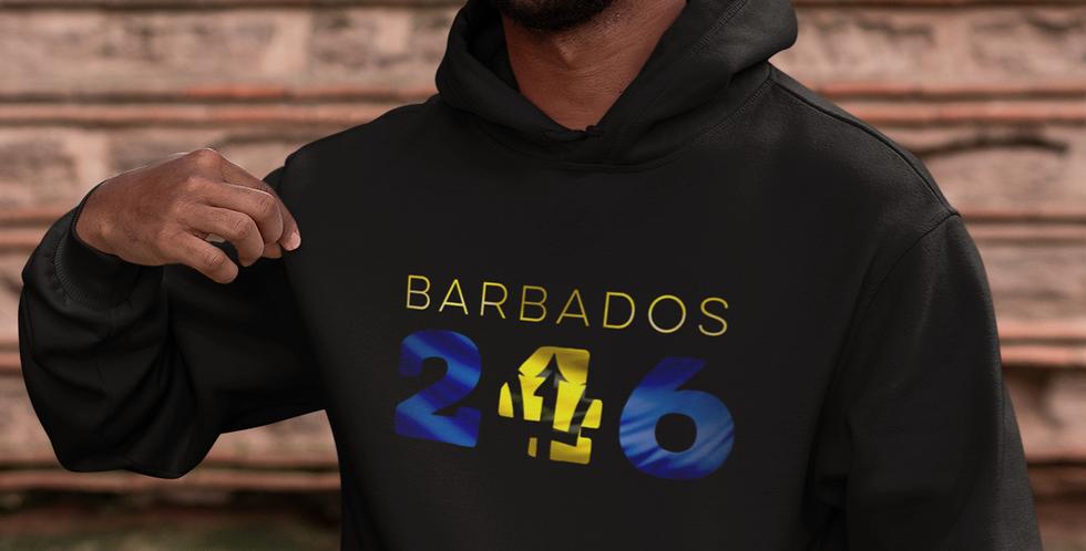 Barbados Mens Black Hoodie