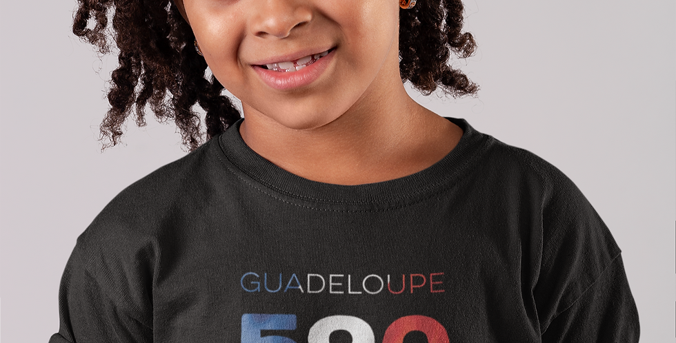 Childrens Guadeloupe Black T-Shirt