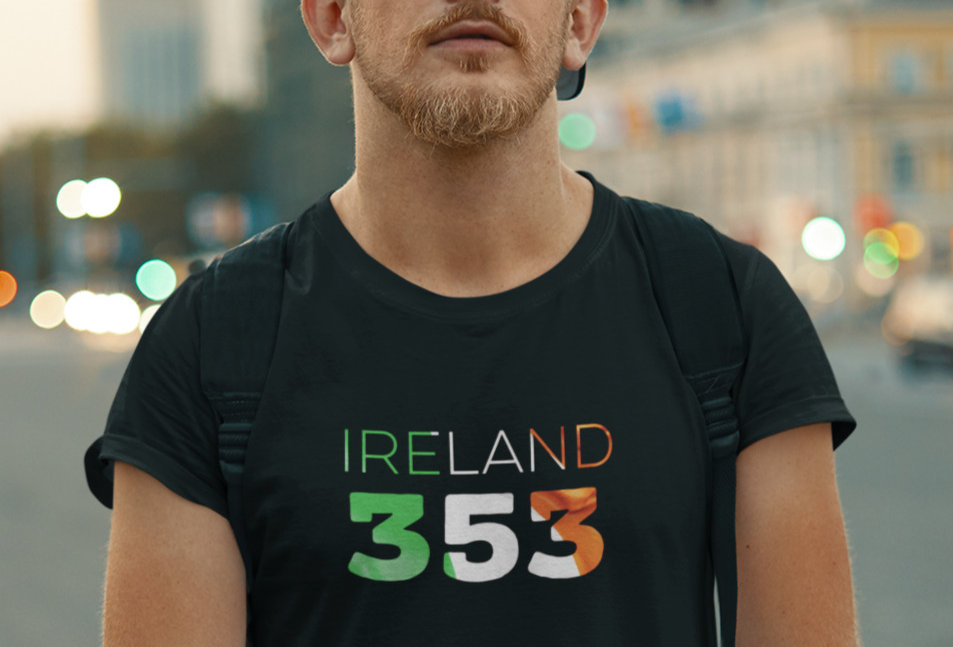 Ireland Mens Black T-Shirt