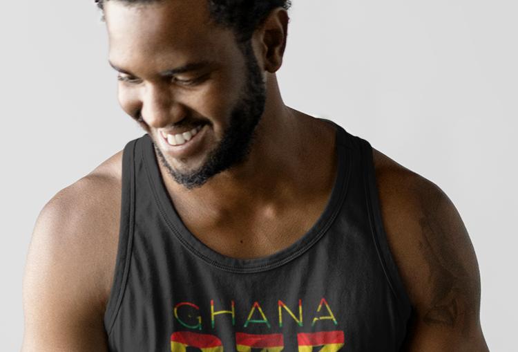 Ghana Mens Tank Top Vest