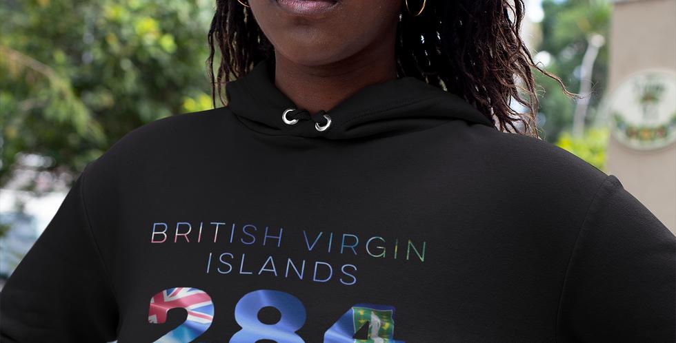 British Virgin Islands Womens Pullover Hoodie