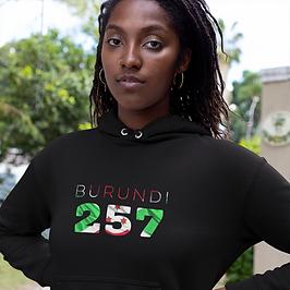 Burundi 257 Women's Pullover Hoodie
