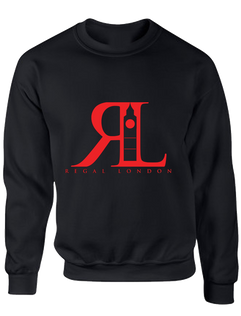 RL Red on Black Sweatshirt