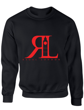 RL Red on Black Sweatshirt