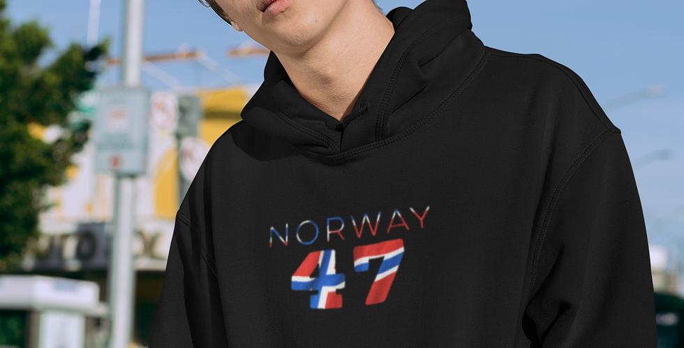 Norway Mens Black Hoodie