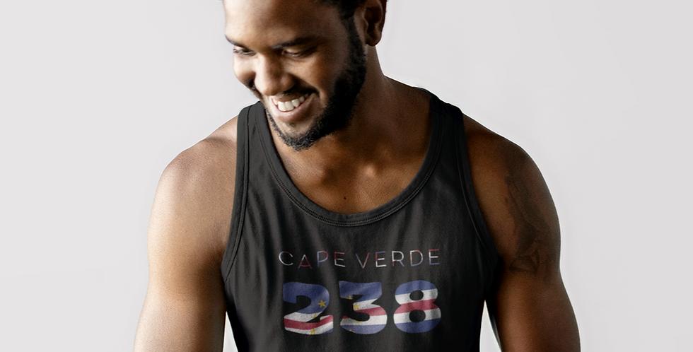 Cape Verde Mens Black Tank Top Vest