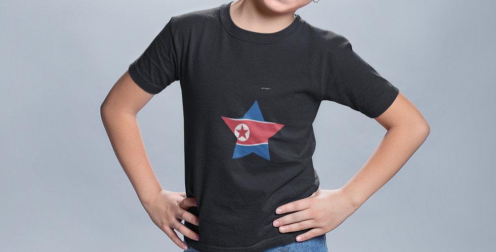 Childrens North Korea Black T-Shirt
