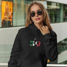 Italy 39 Womens Pullover Hoodie