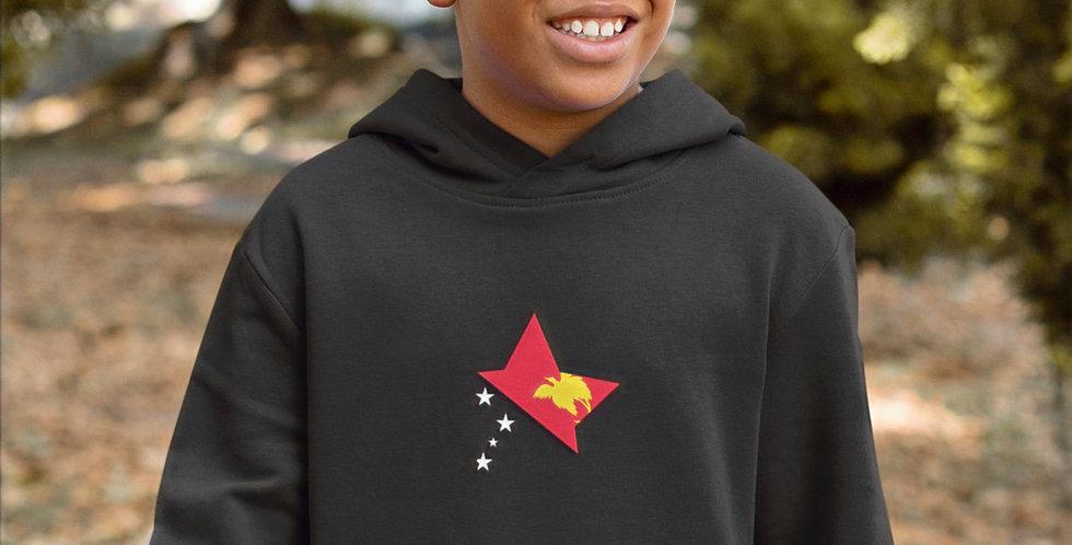 Papua New Guinea Childrens Black Hoodie