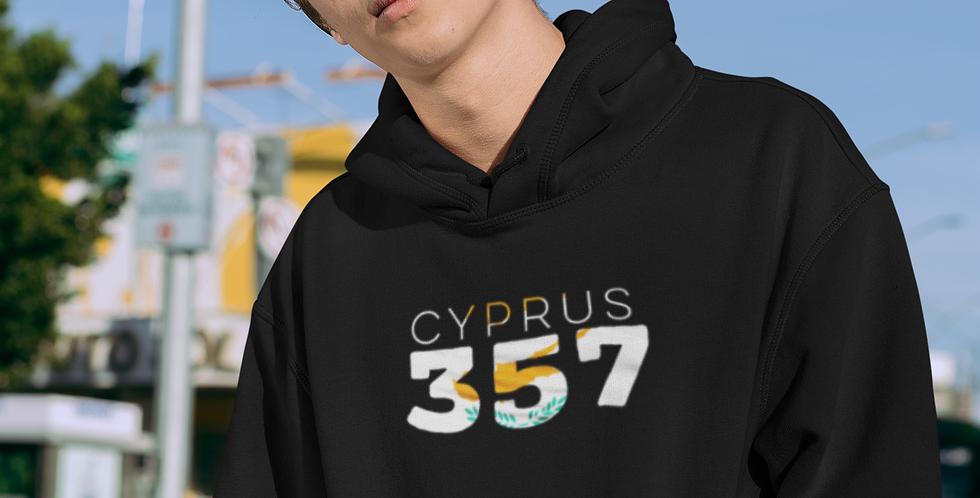 Cyprus Mens Black Hoodie