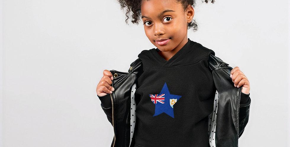 Anguilla Childrens Black Hoodie