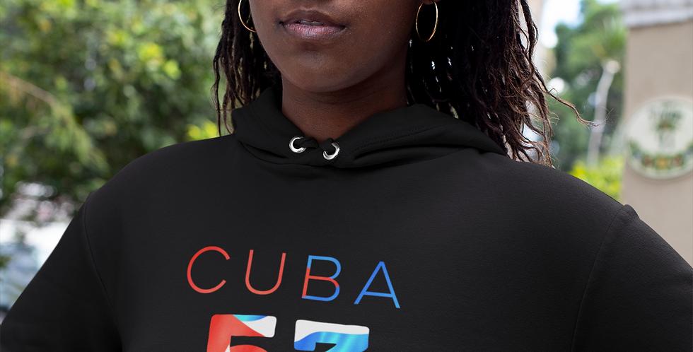 Cuba Womens Black Hoodie