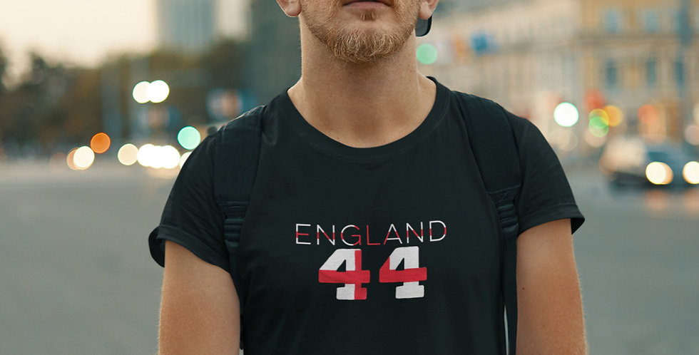 England Mens Black T-Shirts