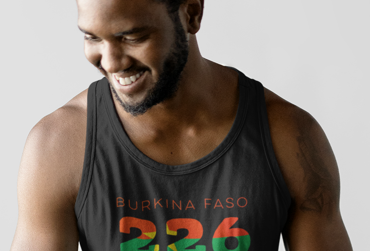 Burkina Faso Mens Tank Top Vest