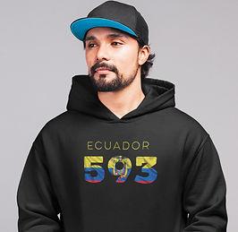 Ecuador 593 Men's Pullover Hoodie