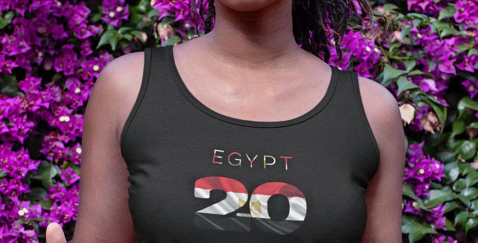 Egypt Womens Black Vest Tank Top
