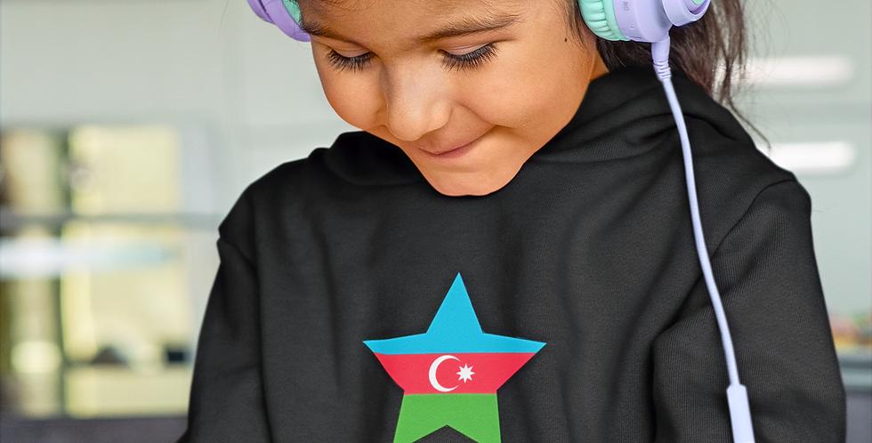 Azerbaijan Childrens Black Hoodie