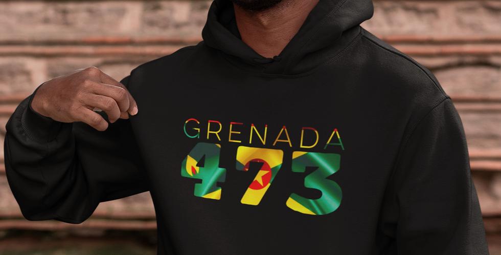 Grenada 473 Mens Black Hoodie