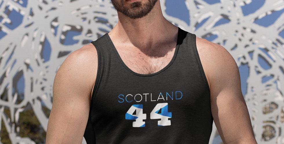 Scotland Mens Black Tank Top Vest