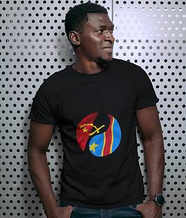 Angola & Democratic Republic of Congo Dual Mens T-Shirt