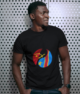 Angola & Democratic Republic of Congo Dual Mens T-Shirt