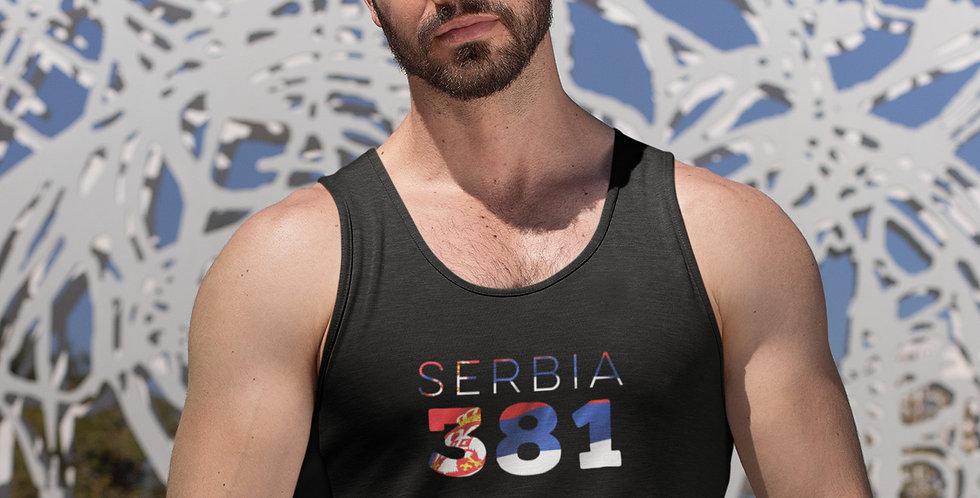 Serbia Mens Black Tank Top