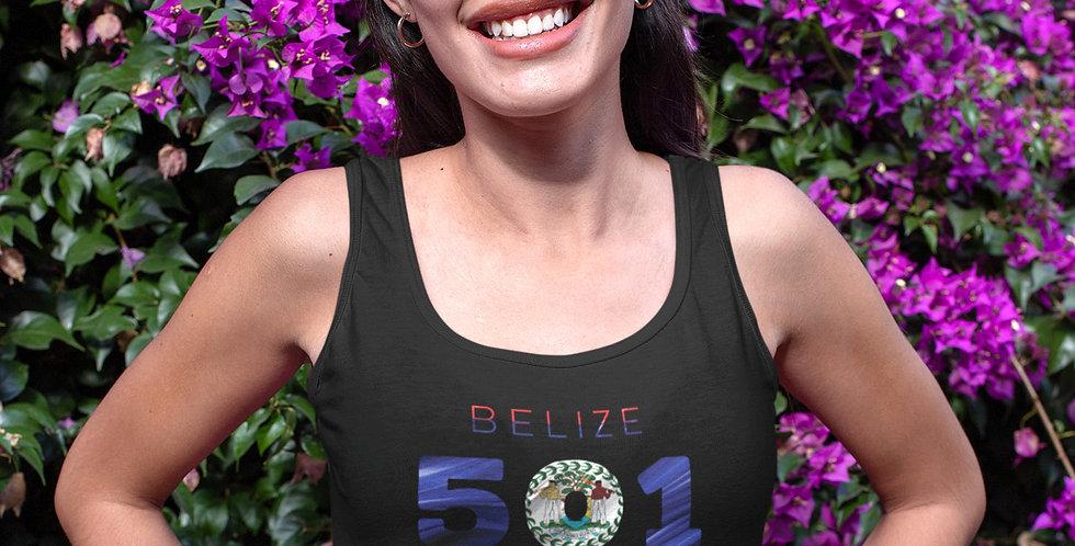 Belize Womens Black Vest Tank Top