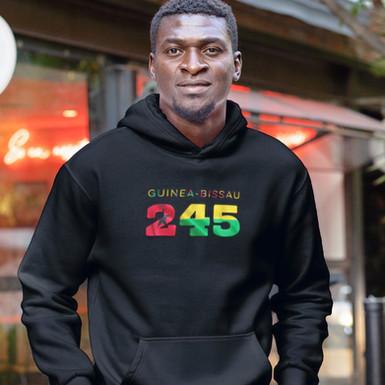 Guinea-Bissau 245 Mens Pullover Hoodie