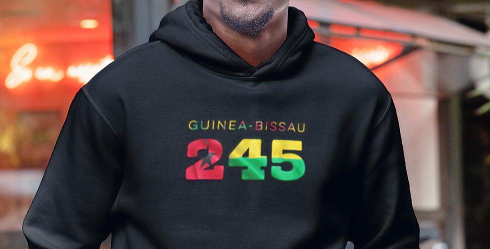 Guinea Bissau Mens Black Hoodie