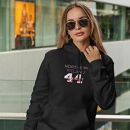 Northern Ireland 44 Womens Pullover Hoodie