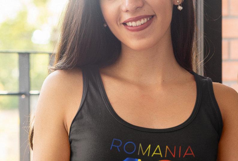 Romania Womens Black Vest