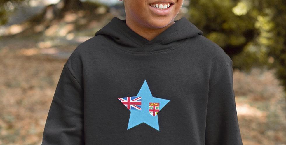 Fiji Childrens Black Hoodie