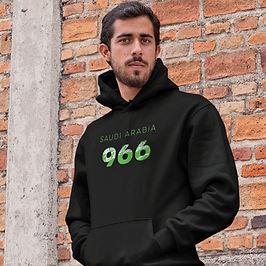 Saudi Arabia 966 Mens Pullover Hoodie