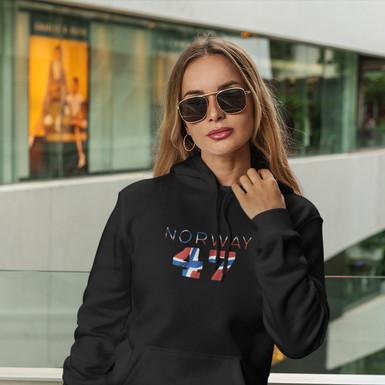 Norway 47 Womens Pullover Hoodie