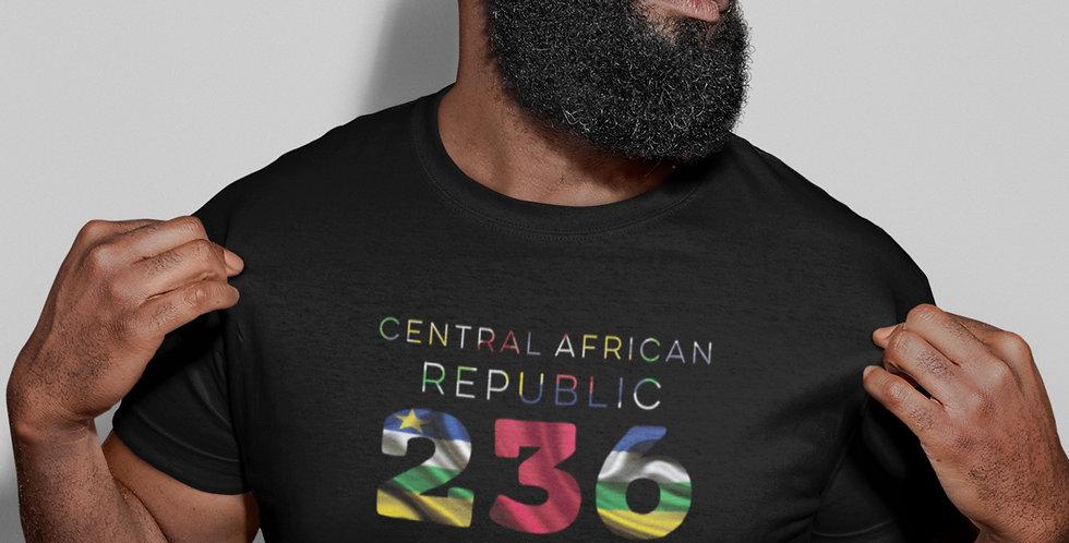 Central African Republic Mens Black T-Shirt
