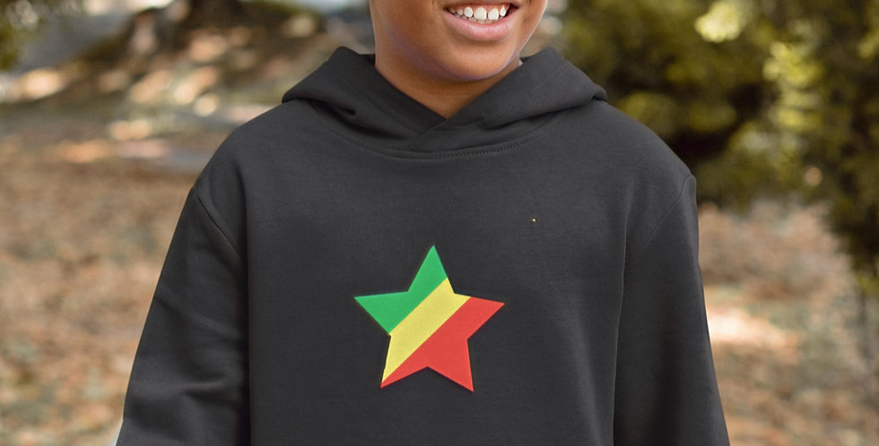 Republic of the Congo Childrens Black Hoodie