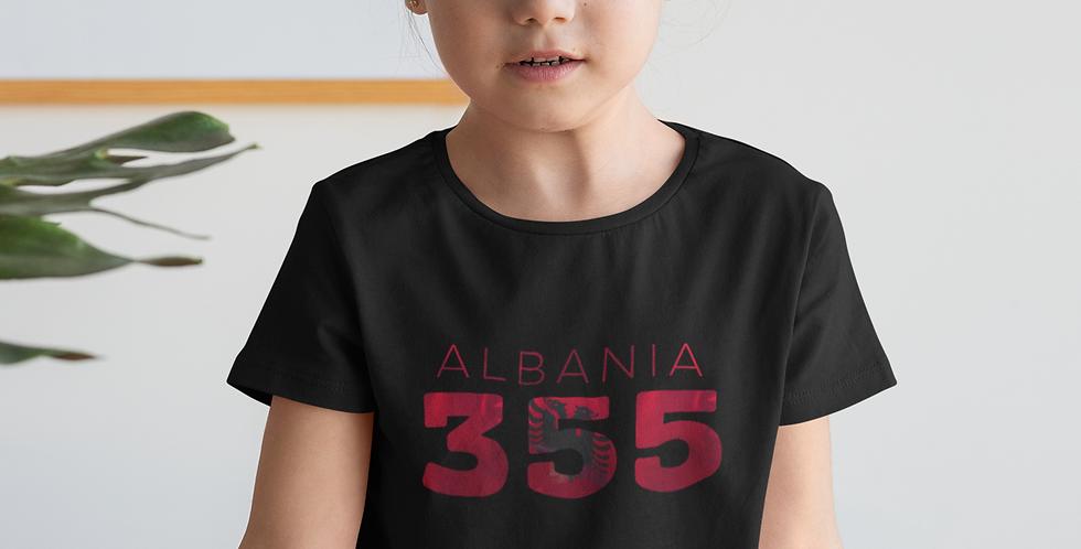 Childrens Albania Black T-Shirt